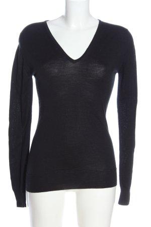John Smedley V-Neck Sweater black casual look