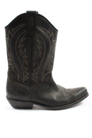 Johnny Bulls Boots western noir-blanc cassé élégant
