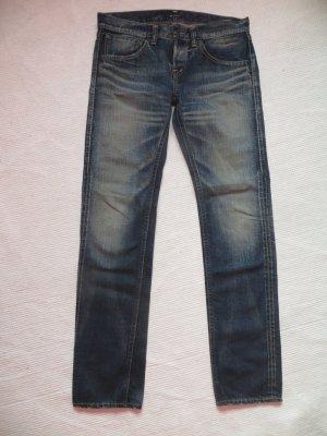Johnpull Pantalone a vita bassa blu Cotone