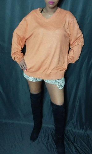 Oversized Sweater apricot mixture fibre