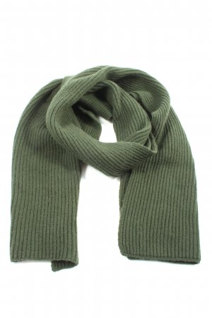 Johnstons cashmere Cashmere Scarf khaki cable stitch casual look