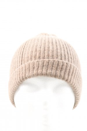 Johnstons cashmere Knitted Hat brown casual look