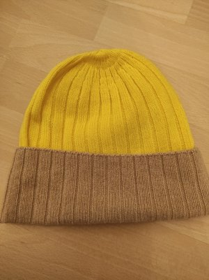 Johnstons of Elgin Chapeau en tricot beige-jaune