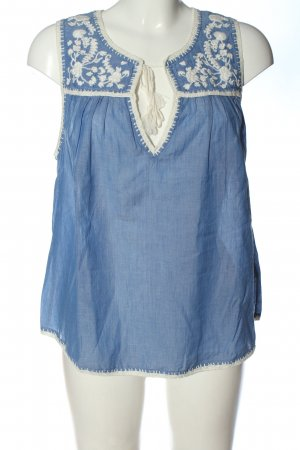 Joie Sleeveless Blouse blue-natural white casual look
