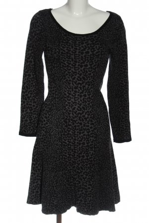 Joie Swetrowa sukienka jasnoszary-czarny Na całej powierzchni W stylu casual