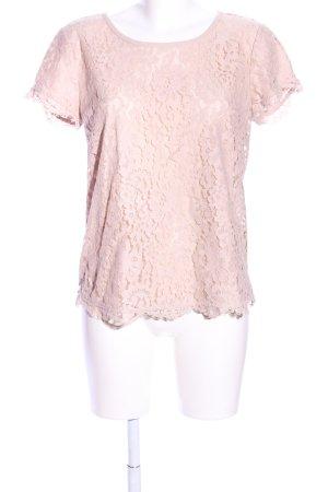 Joie Top de encaje rosa look casual