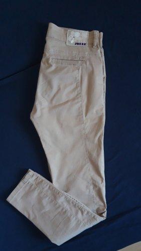 Joker Pantalon cigarette marron clair-beige