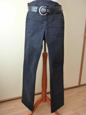 Joker Jeansy z prostymi nogawkami czarny Bawełna