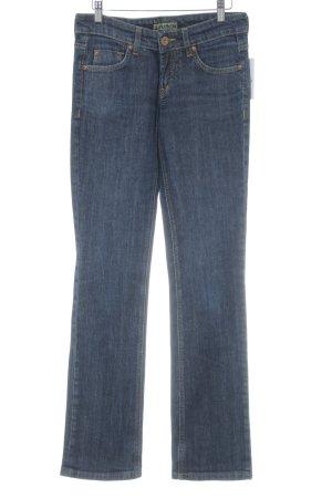 Joker Jeansy z prostymi nogawkami ciemnoniebieski Melanżowy W stylu casual