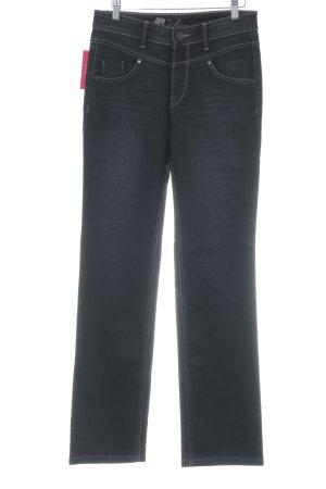 Joker Jeansy z prostymi nogawkami czarny Sprane wykończenie
