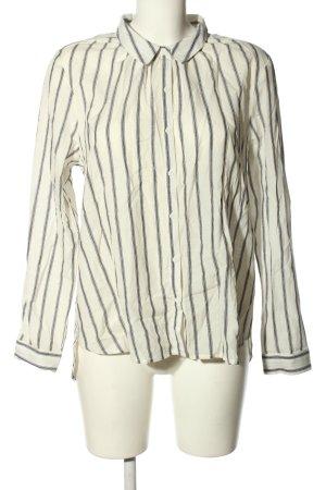 jolie jolie Hemd-Bluse wollweiß-schwarz Streifenmuster Casual-Look