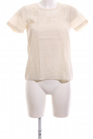 jolie jolie Kurzarm-Bluse creme Casual-Look