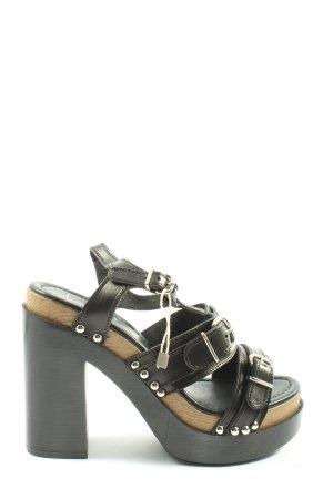 Jolie Sandalias de tacón con plataforma negro look casual