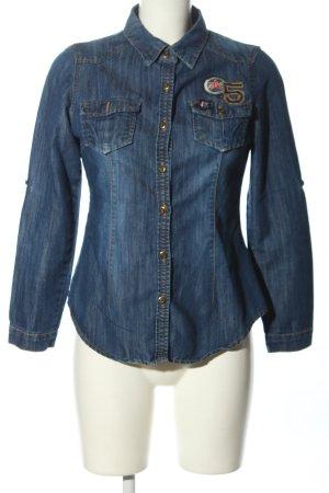 Jolina Jeansowa koszula niebieski W stylu casual