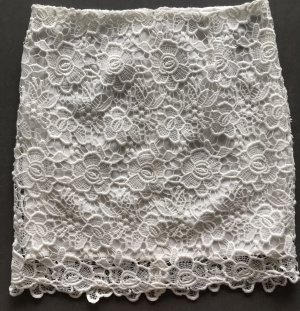 Morgan Falda de tubo blanco
