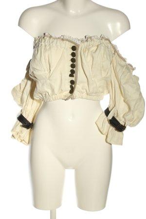 JOMEI Blusa tradizionale bianco sporco stile stravagante