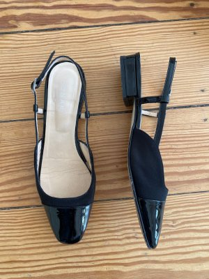 Jonak Slingback Ballerinas black leather