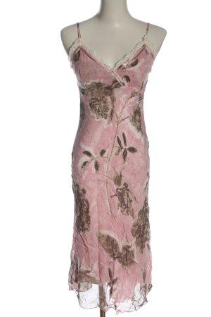Jones Abito scamiciato rosa-marrone stampa integrale stile casual