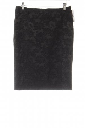 Jones Bleistiftrock anthrazit-schwarz klassischer Stil