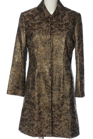 Jones Długi płaszcz brąz Na całej powierzchni W stylu casual