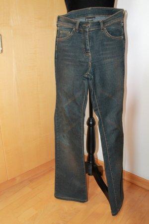 Jones Pantalone cinque tasche talpa-blu acciaio Cotone