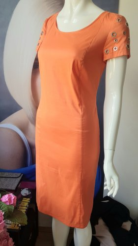 jones kleid Etuikleid orange gefüttert mit ösen 34