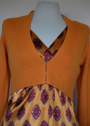 Jones - Kleid und Bolerojäckchen in warmen Farben 38/40