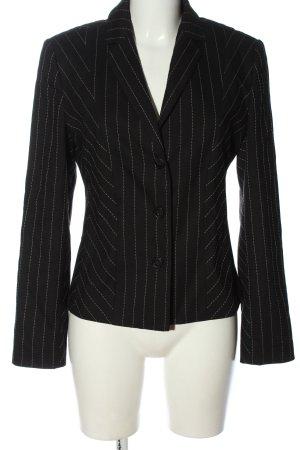 Jones Korte blazer zwart-wolwit gestreept patroon zakelijke stijl