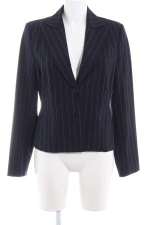 Jones Korte blazer donkerblauw-wit gestippeld patroon zakelijke stijl