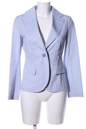 Jones Korte blazer blauw gestreept patroon casual uitstraling