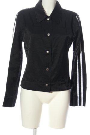 Jones Giacca corta nero-bianco motivo a righe stile casual