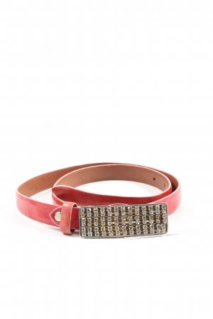 Jones Faux Leather Belt red-silver-colored casual look