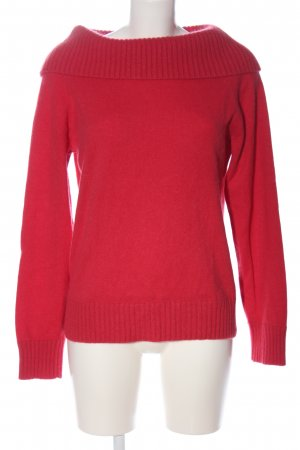 Jones New York Cashmere Jumper red cable stitch casual look