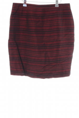 Jones New York High Waist Rock rot-schwarz Streifenmuster Business-Look