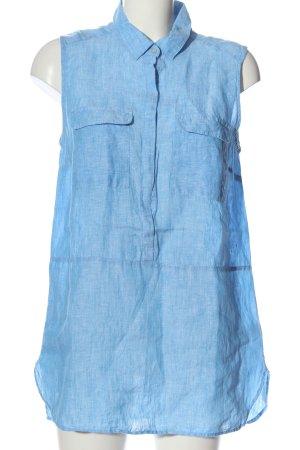 Jones New York Linen Blouse blue casual look