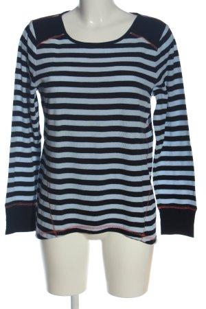 Jones New York Longsleeve black-blue striped pattern casual look