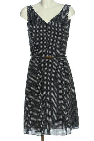 Jones New York Midi Dress blue-cream spot pattern elegant