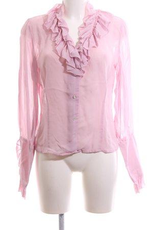 Jones Rüschen-Bluse pink Business-Look