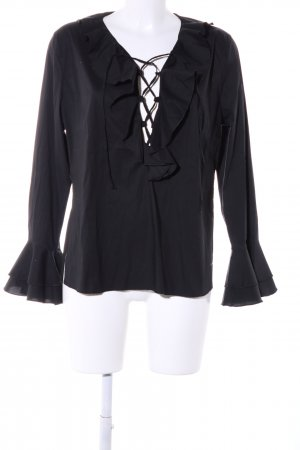 Jones Schlupf-Bluse schwarz Casual-Look