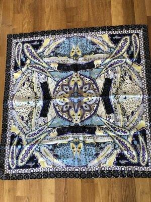 JONES°Seiden - Tuch°88x88 cm°lila/gelb/weiß/hellblau/schwarz°wie neu, kaum getragen