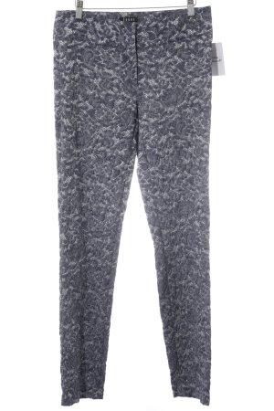 Jones Stoffhose stahlblau-weiß extravaganter Stil