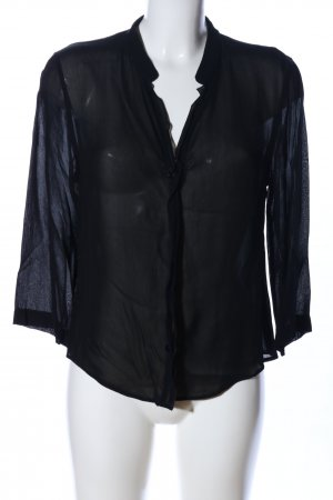 Jones Transparenz-Bluse schwarz Elegant