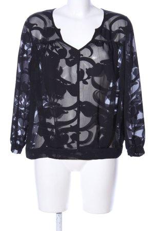 Jones Transparenz-Bluse schwarz Mustermix Elegant