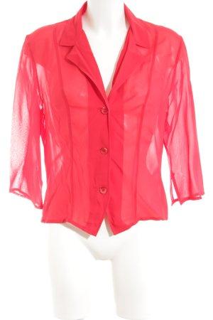 Jones Transparenz-Bluse rot Casual-Look