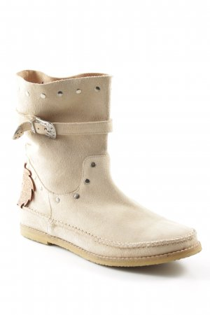 Jonny's Chelsea Boots beige Schnallenelemente