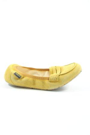 Jonny's Składane baleriny bladożółty W stylu casual
