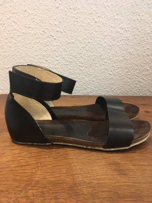 Jonny's Sandały rzymskie czarny Skóra