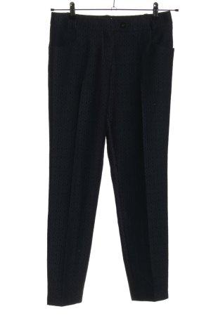 Joop! 7/8 Length Trousers black-blue allover print casual look