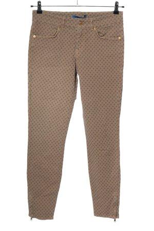 Joop! Spodnie 7/8 brązowy Na całej powierzchni W stylu casual