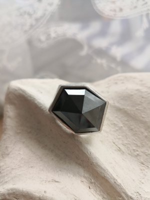 Joop! Zilveren ring zilver-antraciet